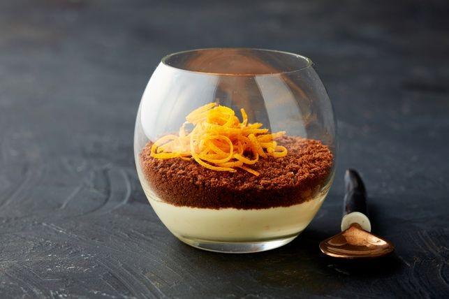 Cheesecake cu portocală, la pahar