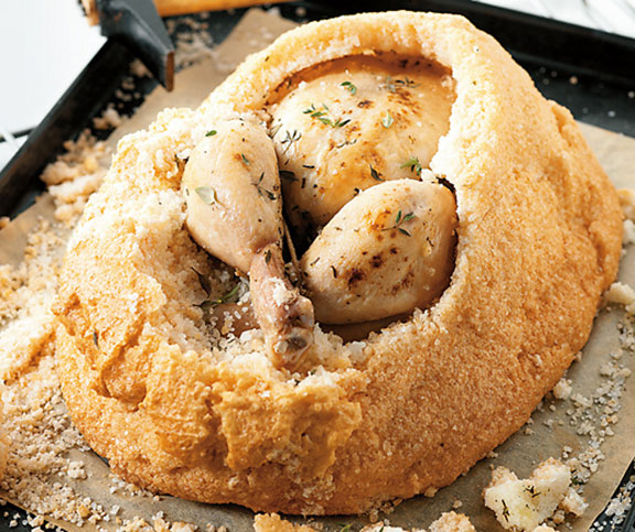 Pui în crustă de sare - cel mai gustos mod de a găti puiul