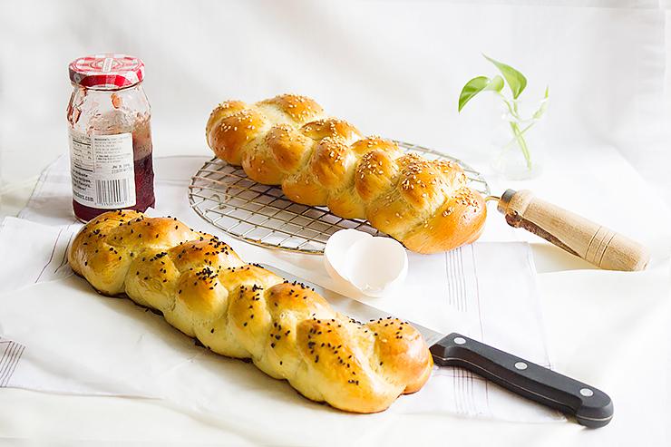 Pâine împletită cu aluat dulce