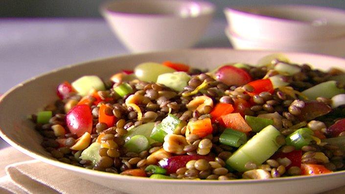 Salată italiană cu linte