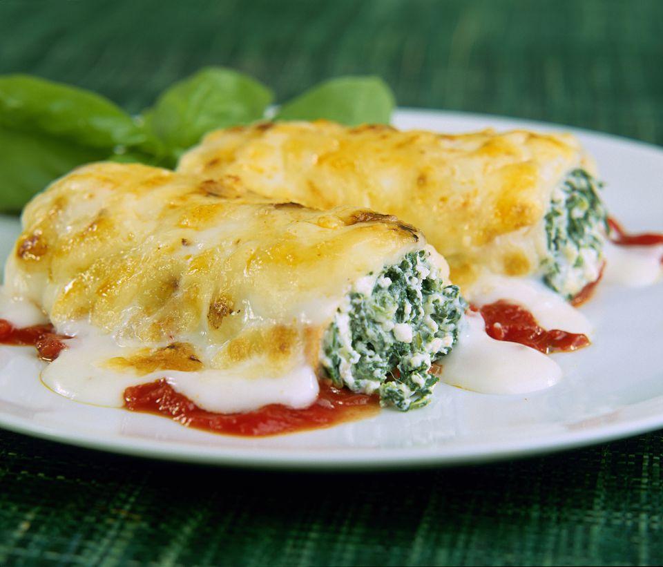 Cannelloni cu ricotta și spanac