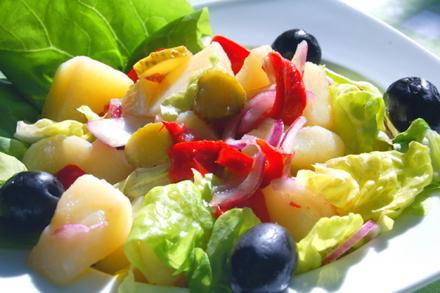 Salată orientală - cea mai simplă rețetă de post