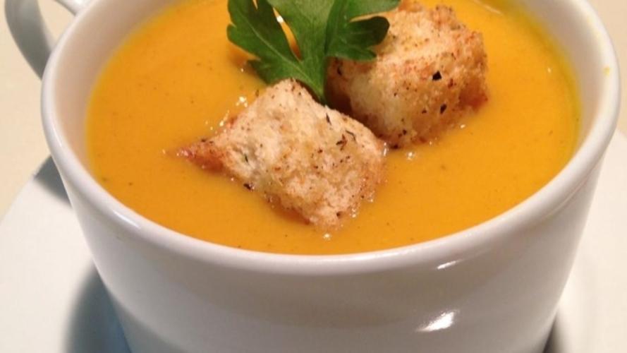 Supa crema de dovleac cu pere
