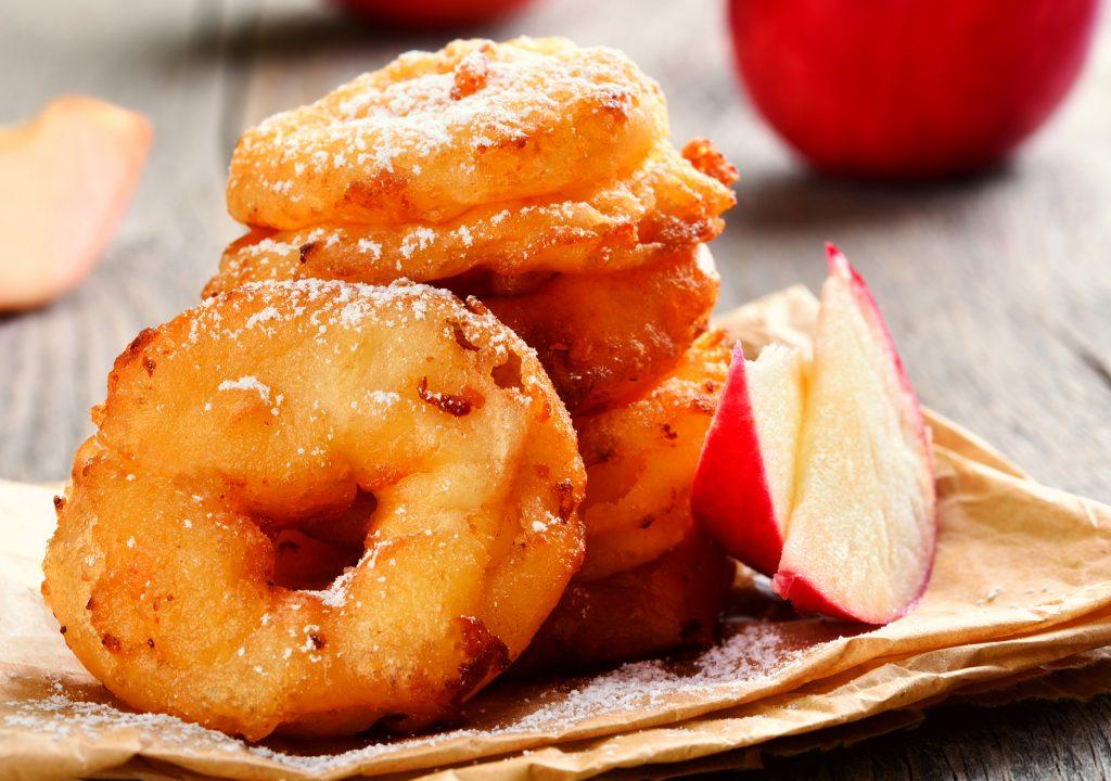 Inele de măr pane