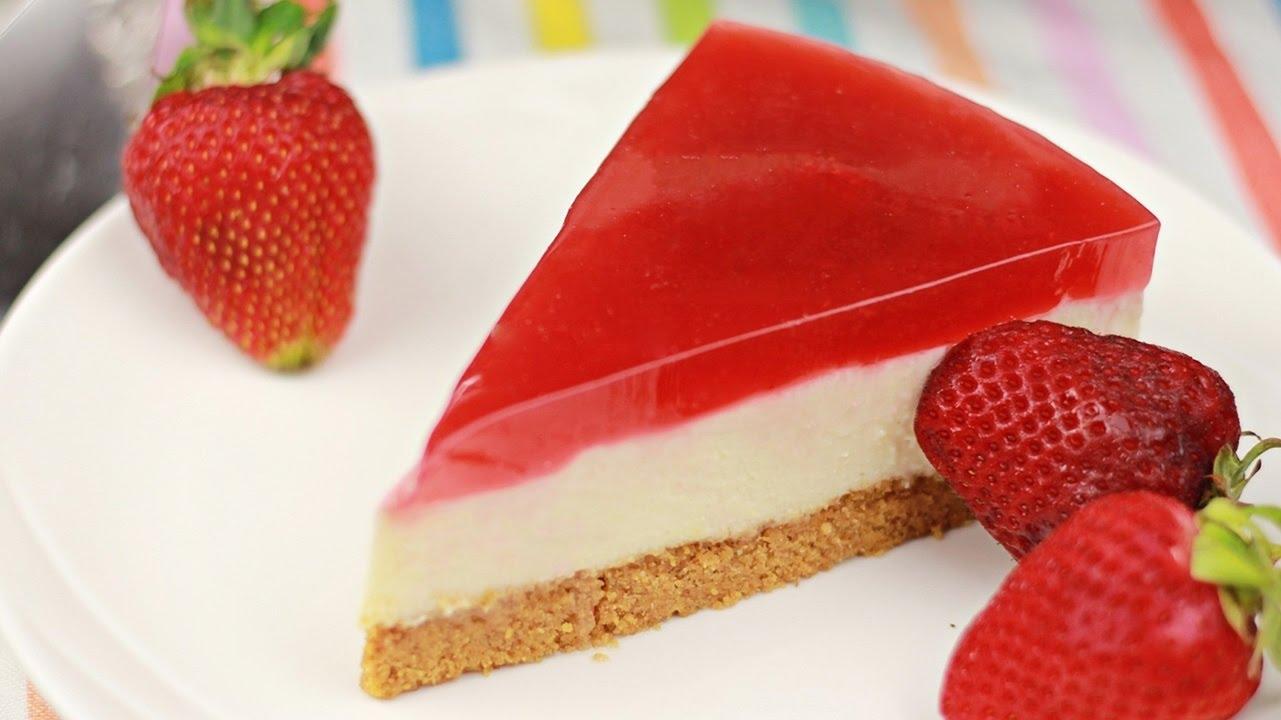 Cheesecake cu căpșuni (fără coacere)