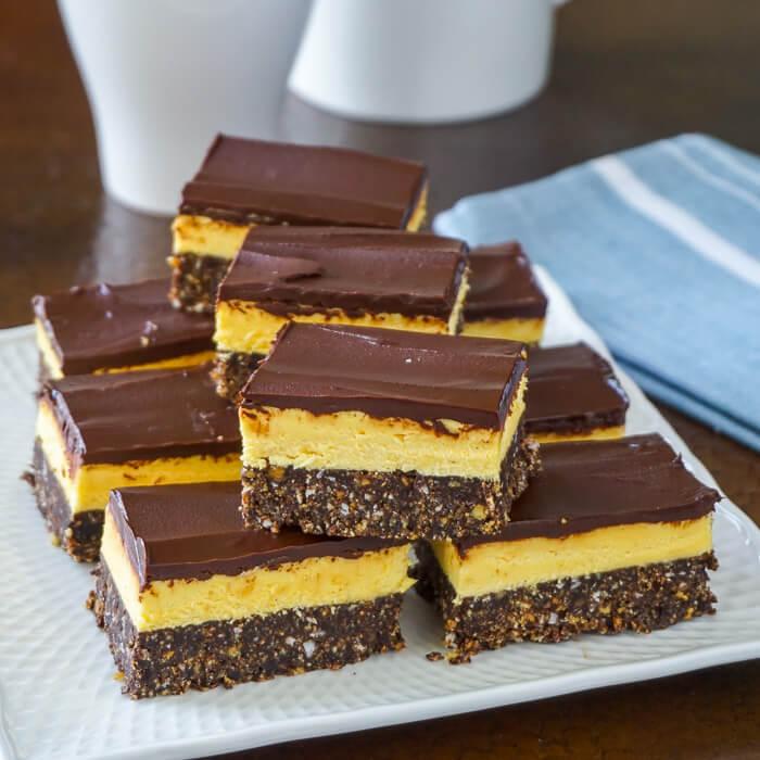 Prăjitură Nanaimo - fără coacere