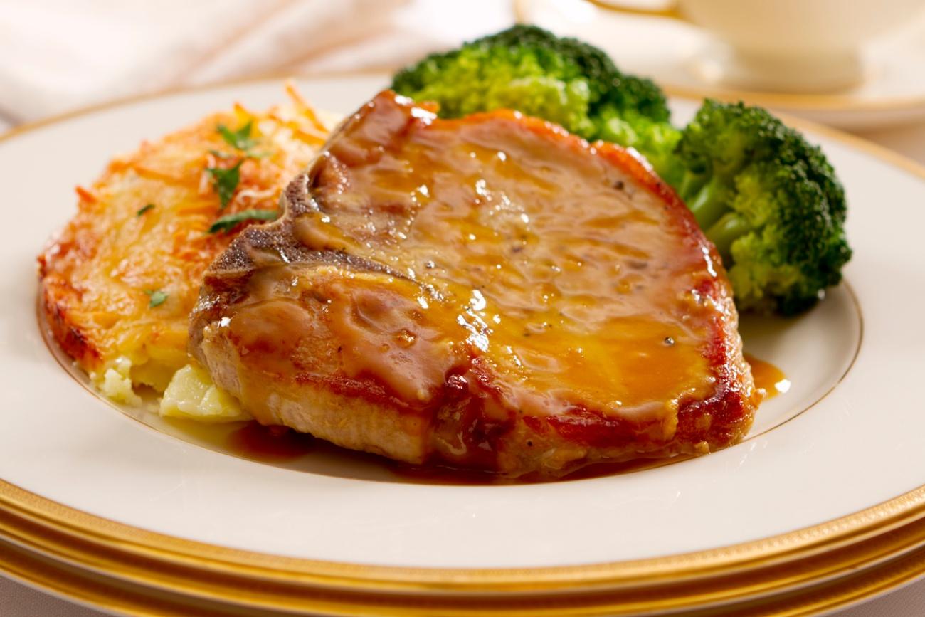 Cotlete de porc cu miere si mustar