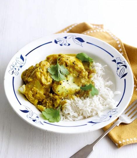 Curry De Peste Cu Iaurt Si Turmenic