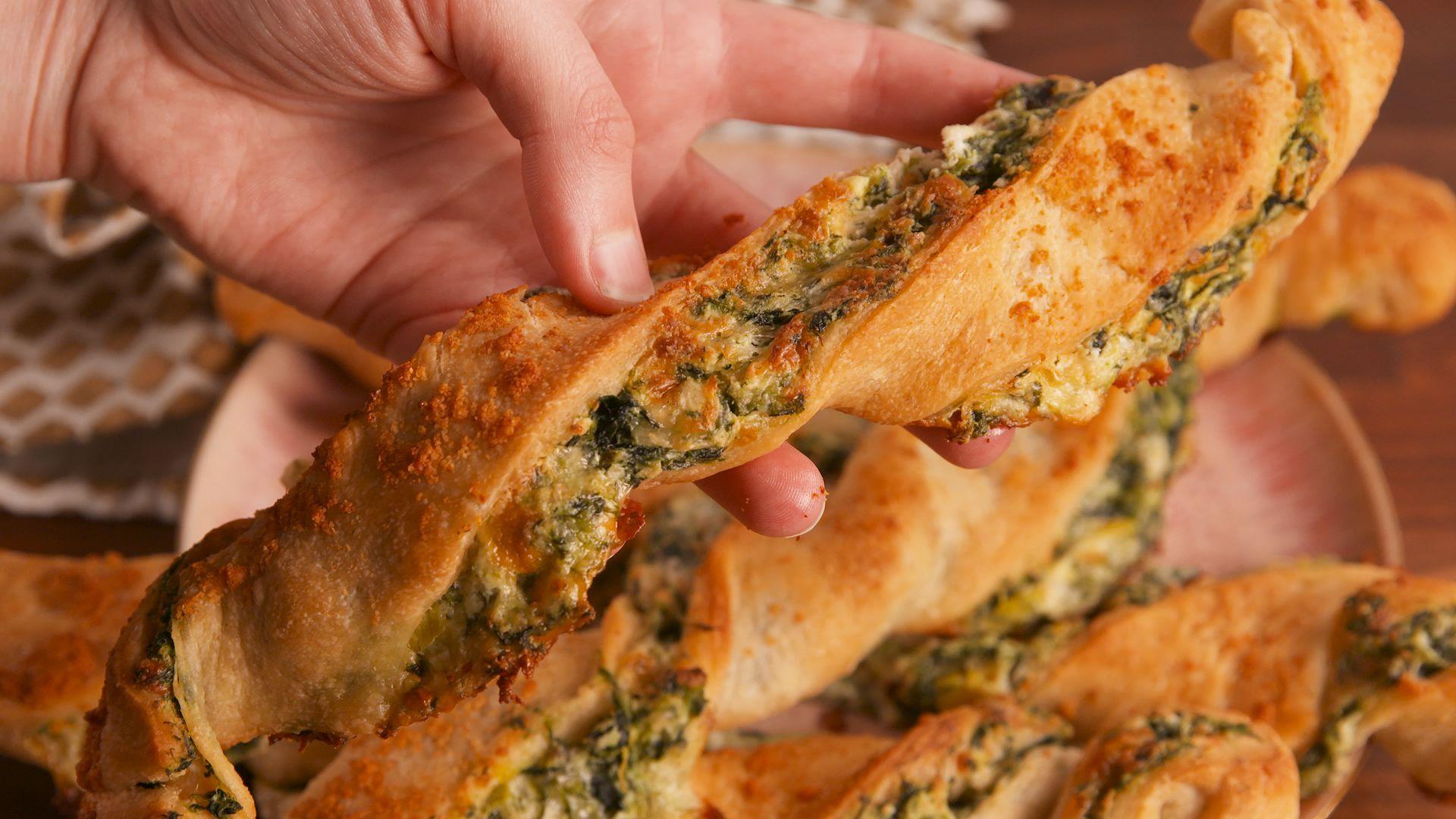 Sărățele cu spanac și brânzeturi