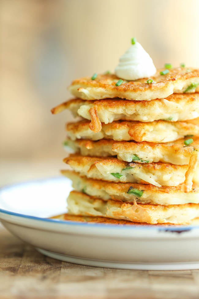 Pancakes de cartofi cu parmezan