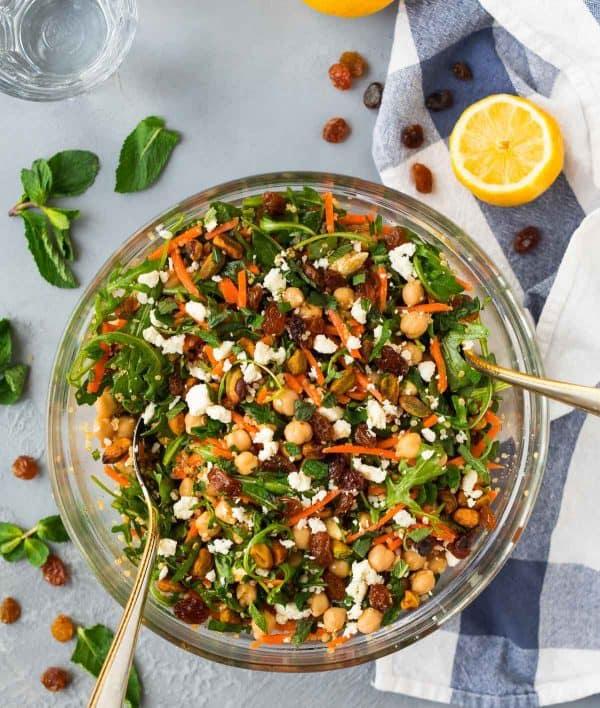 Salată marocană cu năut