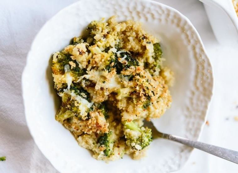 Quinoa cu broccoli gratinate la cuptor