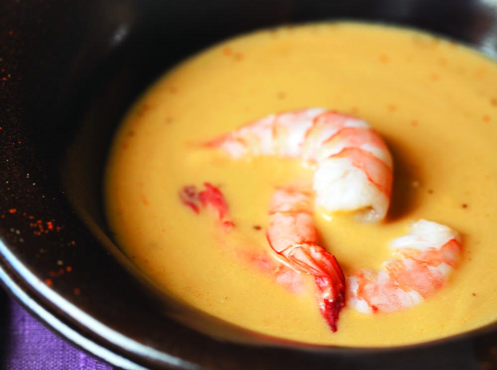 Supă cremă picantă cu creveți