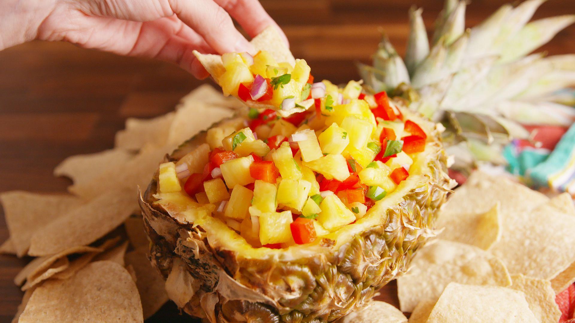 Salsa cu ananas și ardei