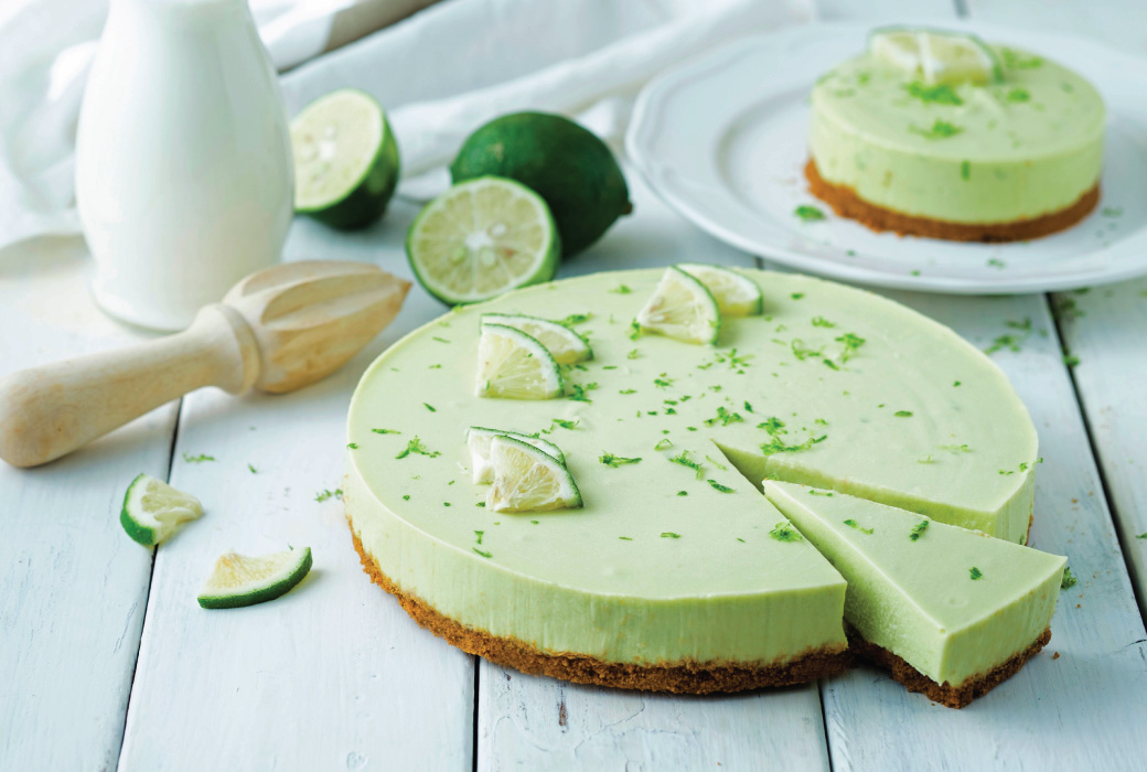 Cheesecake cu avocado și lime