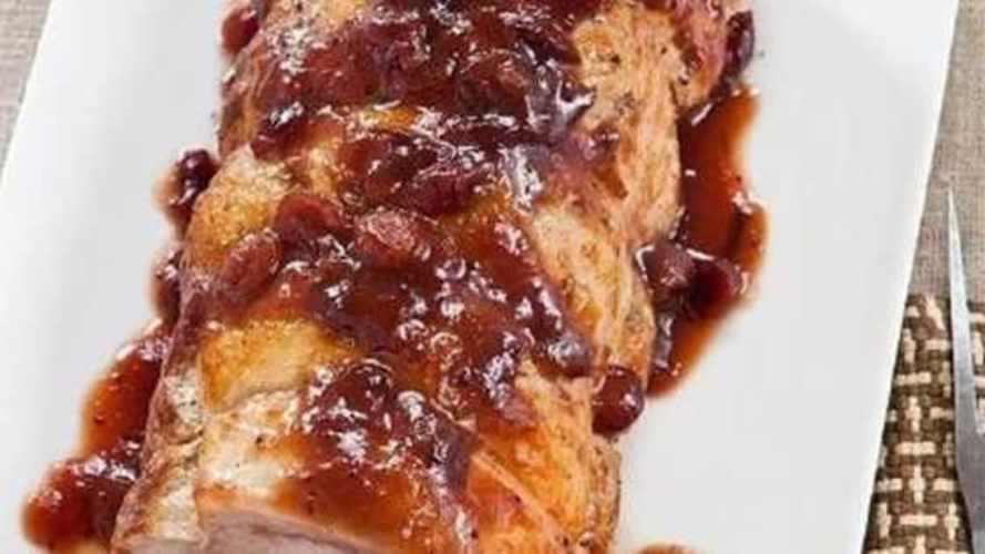 Muschi De Porc Cu Sos De Afine