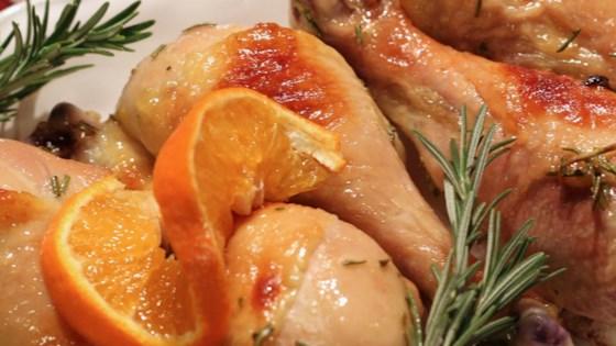 Pulpe de pui cu portocale și miere