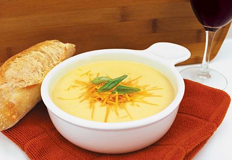 Supă cremă de conopidă cu cheddar maturat