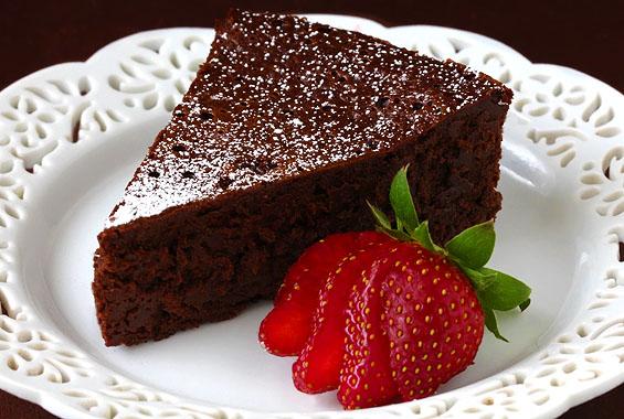 Prăjitură cu ciocolată - făcută din două ingrediente