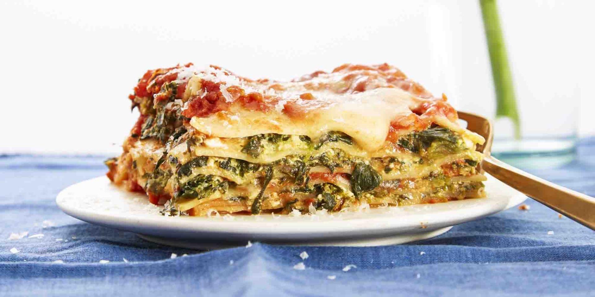 Lasagna cu spanac și ricotta