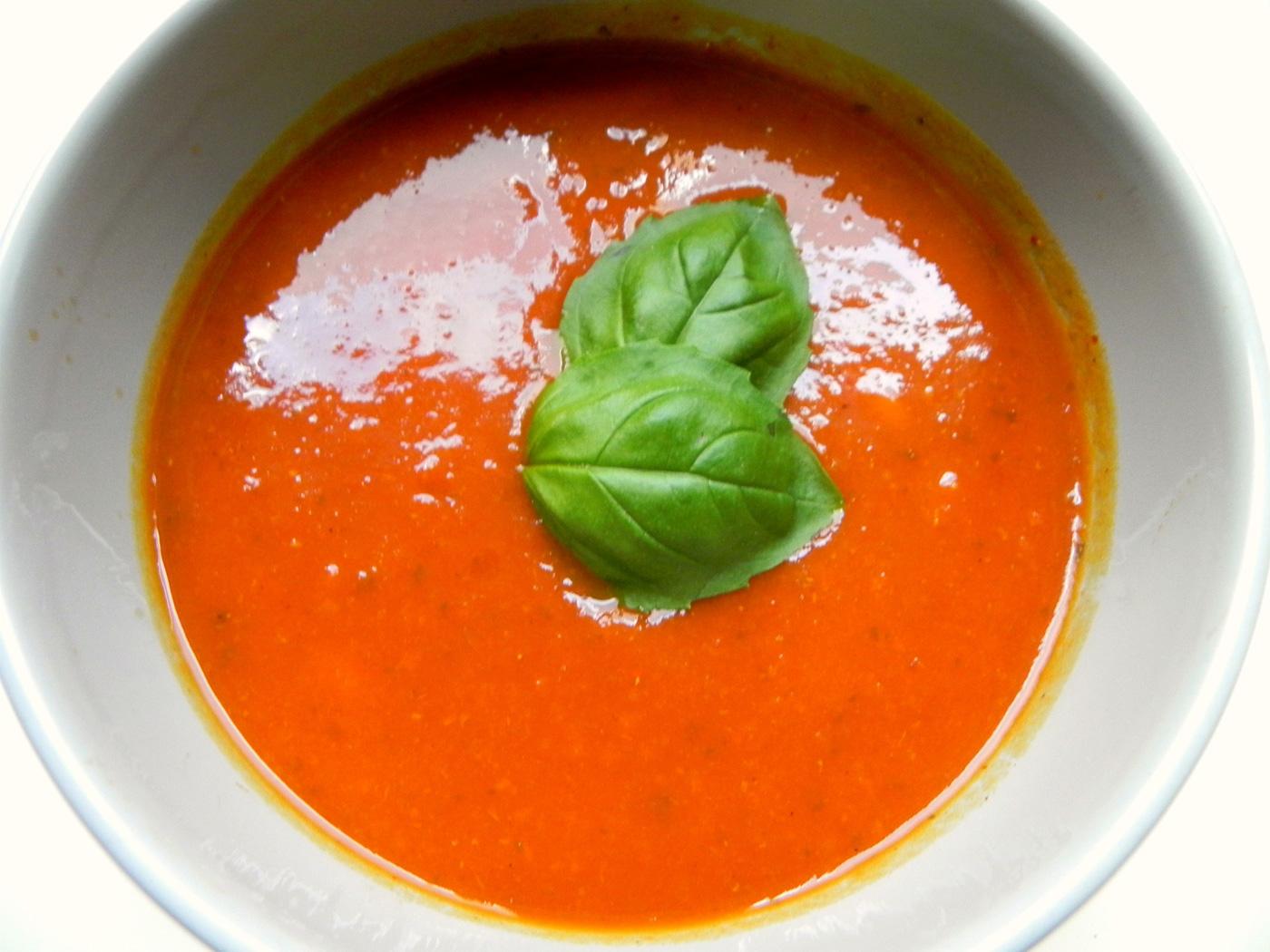 Supa crema de dovleac cu rosii