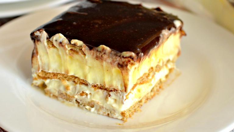 Prăjitură ecler (fără coacere)