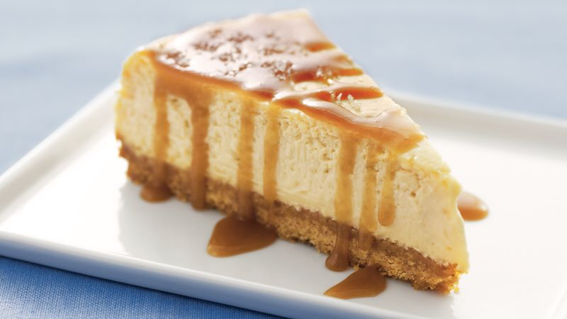Cheesecake cu topping de caramel