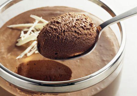 Mousse de ciocolată fără zahăr