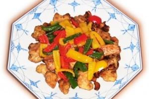 Chicken cashew (pui cu alune caju)