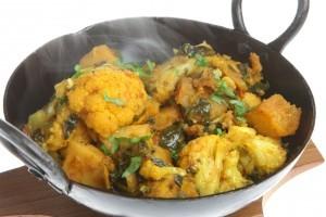 Curry de conopida cu spanac