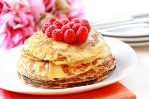 Pancakes cu zmeura