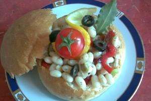 Salata de fasole boabe de post