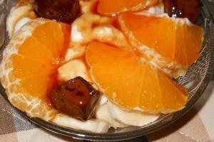 Salata de fructe cu dulceata de nuci