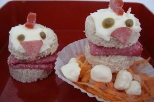 Sandwich cu gainuse