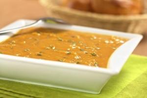 Supa crema de cartofi dulci si morcovi