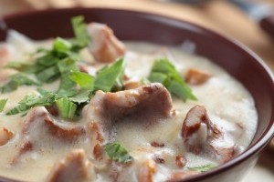 Supa crema de ciuperci cu zarzavaturi