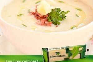 Supa crema de conopida cu emmentaler