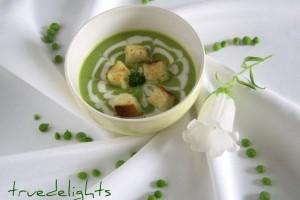 Supa crema de mazare verde de post