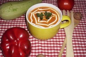 Supa crema de rosii cu dovlecel