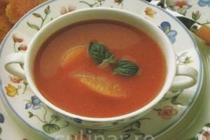 Supa rece de rosii si portocale