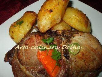 Cotlet si cartofi la cuptorul cu halogen