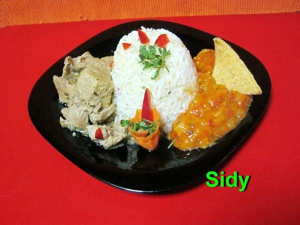 Curry de porc cu chutney de mango