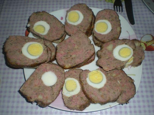 Drob de carne cu oua fierte