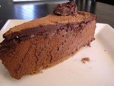Gateau mousse au chocolat-Prajitura cu spuma de ciocolata neagra