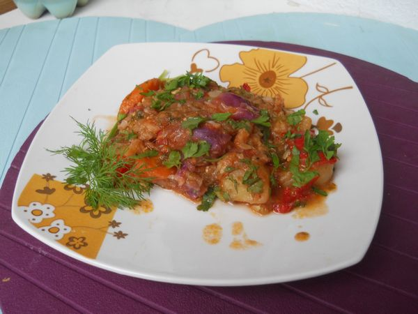 Ghiveci de legume cu ghimbir
