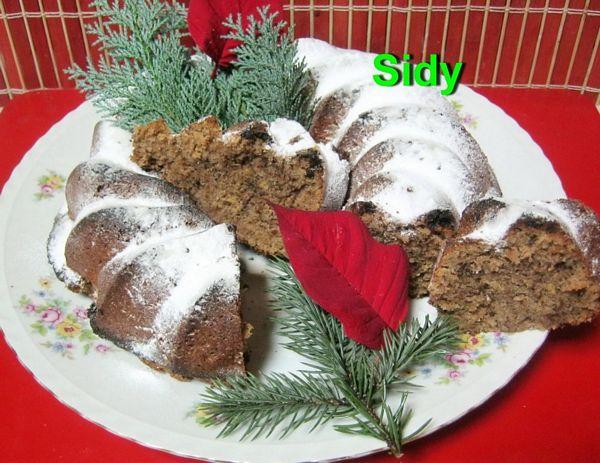 Guguluf (briose) cu nuci si ciocolata
