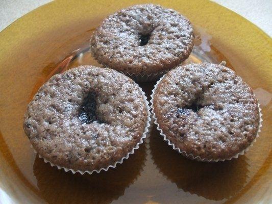 Muffins/briose cu dulceata de afine