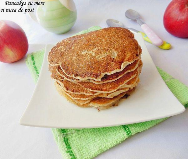 Pancakes cu mere si nuca de post