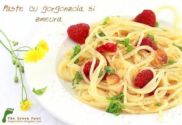 Paste cu gorgonzola si zmeura