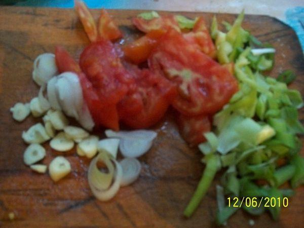 Peste umplut cu legume